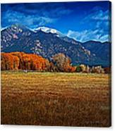 Taos In The Fall Canvas Print