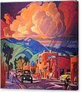 Taos Inn Monsoon Canvas Print