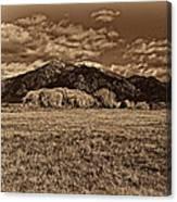 Taos Mountain In Platinum  Canvas Print