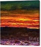 Taos Sunset Lx - Homage Turner Canvas Print