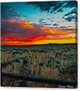 Taos Sunset Xi Canvas Print