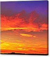 Taos Sunset Xxxx Canvas Print