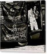 Tapestries Of  Elvis Presley  Hawai Concert Jesus Christ Sheep Horses Flags Armory Park Tucson Az Canvas Print