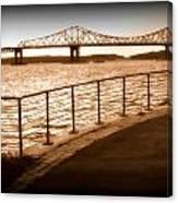 Tappan Zee Bridge Ix Canvas Print