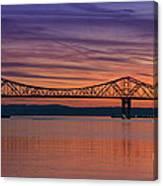 Tappan Zee Bridge Sunset Canvas Print