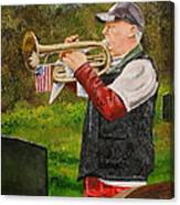 Taps For Troops Canvas Print