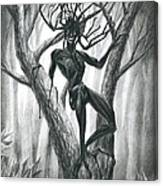 Tar Girl In A Tree Canvas Print