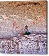 Tarahumara Boy In Painted Cave Near Chihuahua-mexico Canvas Print
