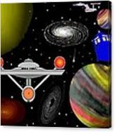 Tardis Trek Canvas Print