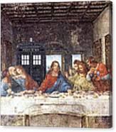 Tardis V Leonardo Da Vinci Canvas Print