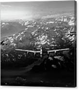 Target Tirpitz In Sight Black And White Version Canvas Print