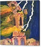 Tarot 16 The Tower Canvas Print