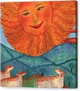 Tarot 19 The Sun Canvas Print