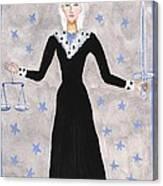 Tarot 8 Justice Canvas Print