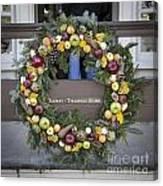 Tarpley Thompson Store Wreath Canvas Print