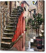 Tarquinian Red Stairs Canvas Print