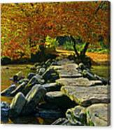 Tarr Steps In Somerset Canvas Print