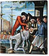 Tarring & Feathering, 1773 Canvas Print