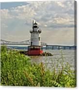 Tarrytown Lighthouse And The Tappan Zee Bridge Canvas Print