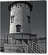 Tarrytown Lighthouse Bw Canvas Print