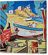 Tarsanas-boatyard Canvas Print