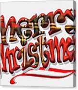 Tartan Merry Christmas Canvas Print