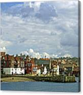 Tate Hill Pier And The Shambles - Whitby Canvas Print
