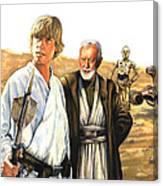 Tatooine Massacre Canvas Print