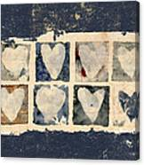 Tattered Hearts Canvas Print