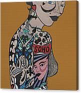 Tattoo Chic Rust Canvas Print