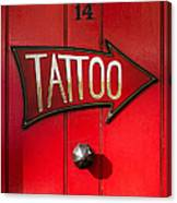 Tattoo Door Canvas Print