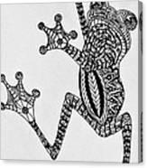 Tattooed Tree Frog - Zentangle Canvas Print