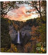 Taughannock Falls Autumn Sunset Canvas Print