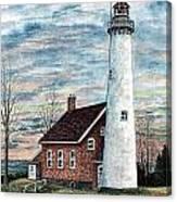 Tawas Point Light Canvas Print