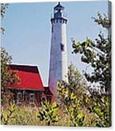 Tawas Point Lighthouse...from Tawas Bay Side Canvas Print
