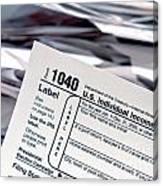 Tax Time  Canvas Print