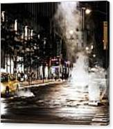 Taxi And Smoke Canvas Print