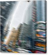 Taxi On Times Square Canvas Print