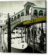 Taxi Venice Italy Style Canvas Print