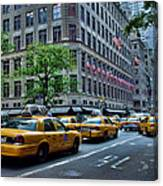 Taxicabs Of New York City Canvas Print