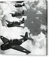 Tbf Torpedo Fighter Bombers Avengers Canvas Print
