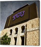 Tcu Stadium Entrance Canvas Print