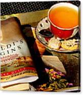 Tea And A Read Canvas Print