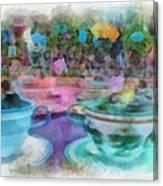Tea Cup Ride Fantasyland Disneyland Pa 01 Canvas Print