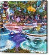 Tea Cup Ride Fantasyland Disneyland Pa 02 Canvas Print