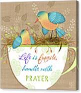 Tea Cup Wisdom Canvas Print