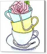 Tea Cups Canvas Print