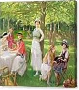 Tea In The Garden Canvas Print