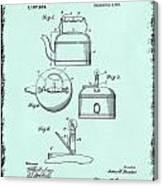 Tea Kettle Patent 1916 Canvas Print