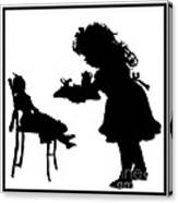 Tea Party Dolly Silhouette Canvas Print